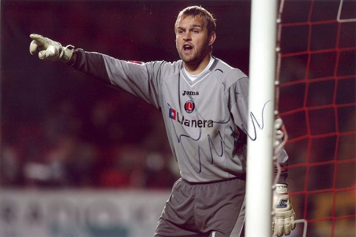 Nicky Weaver, Charlton Athletic, signed 12x8 inch photo.